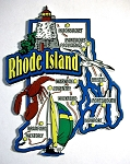 Rhode Island Jumbo Map Fridge Magnet Design 9