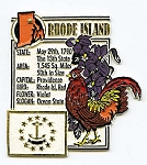 Rhode Island Square Montage Fridge Magnet Design 5