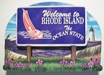 Rhode Island State Welcome Sign Artwood Fridge Magnet Design 14