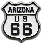 Rt 66 Arizona Road Sign Fridge Magnet Design 1