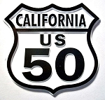 Rt 50 California Road Sign Fridge Magnet Design 25