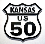 Rt 50 Kansas Road Sign Magnet Design 25