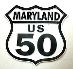 Rt 50 Maryland Road Sign Fridge Magnet Design 25