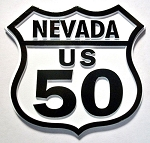 Rt 50 Nevada Road Sign Fridge Magnet Design 25