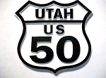 Rt 50 Utah Road Sign Fridge Magnet Design 25