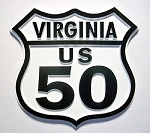Rt 50 Virginia Road Sign Fridge Magnet Design 25