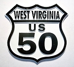 Rt 50 West Virginia Road Sign Magnet Design 25