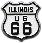Rt 66 Illinois Road Sign Magnet Design 1