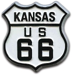 Rt 66 Kansas Road Sign Fridge Magnet Design 1