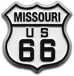 Rt 66 Missouri Road Sign Fridge Magnet Design 1