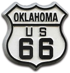Rt 66 Oklahoma Road Sign Fridge Magnet Design 1