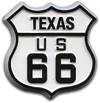Rt 66 Texas Road Sign Magnet Design 1