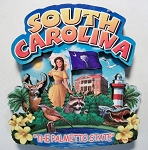 South Carolina Montage Artwood Fridge Magnet Design 16