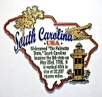 South Carolina Outline Montage Fridge Magnet Design 4