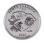 South Carolina State Quarter Fridge Magnet Design 13