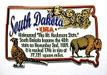 South Dakota Montage Fridge Magnet Design 4