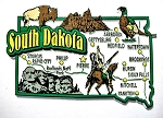 South Dakota Jumbo Map Fridge Magnet Design 9