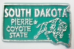 South Dakota State Outline Fridge Magnet Design 10