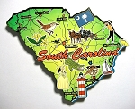 South Carolina State Outline Decowood Jumbo Fridge Magnet Design 10