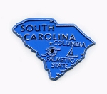 South Carolina State Outline Fridge Magnet Design 1