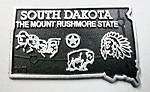 South Dakota State Outline Fridge Magnet Design 2