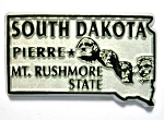 South Dakota State Outline Fridge Magnet Design 1