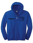 Pendleton Wildcats Premium Embroidered Blue Team Jacket