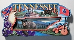 Tennessee Montage Artwood Fridge Magnet Design 27