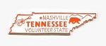 Tennessee State Outline Fridge Magnet Design 1