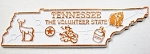 Tennessee State Outline Fridge Magnet Design 2