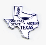Texas State Outline Fridge Magnet Design 1