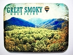 The Great Smoky Mountains with Hot Air Balloon Photo Fridge Magnet Design 26