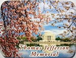 Thomas Jefferson Memorial with Cherry Blossoms Washington D.C. Fridge Magnet Design 26