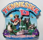 Tennessee Montage Artwood Fridge Magnet