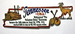 Tennessee State Outline Montage Fridge Magnet Design 4