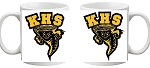 Keyser Golden Tornado Coffee Cup Picture on each side Design 2
