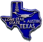 Texas State Outline Fridge Magnet Design 10