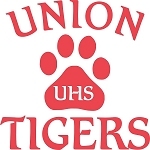 Union Tigers 5 x 5 inches Window Decals Design 1