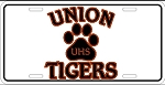 Union Tigers License Plate Design 1