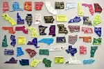 All 50 State Magnets Plus Puerto Rico and Washington D.C. Design 10