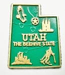 Utah State Outline Fridge Magnet Design 2