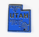 Utah State Outline Fridge Magnet