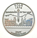 Utah State Quarter Fridge Magnet Design 13