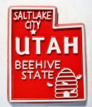 Utah State Outline Fridge Magnet Design 10