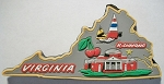 Virginia Multi Color Fridge Magnet Design 18