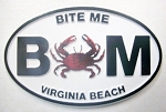 Virginia Beach Bite Me Oval Fridge Magnet Design 10