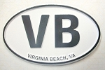 Virginia Beach VB Oval Fridge Magnet Design 10