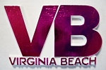 Virginia Beach VB Pink Fridge Magnet Design 10