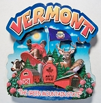Vermont Montage Artwood Fridge Magnet Design 16