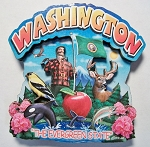 Washington Montage Artwood Fridge Magnet Design 16